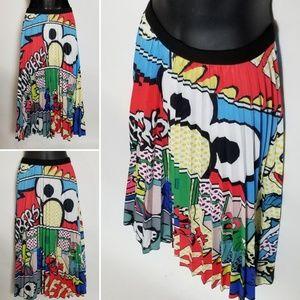 Graffiti Pleated Skirt